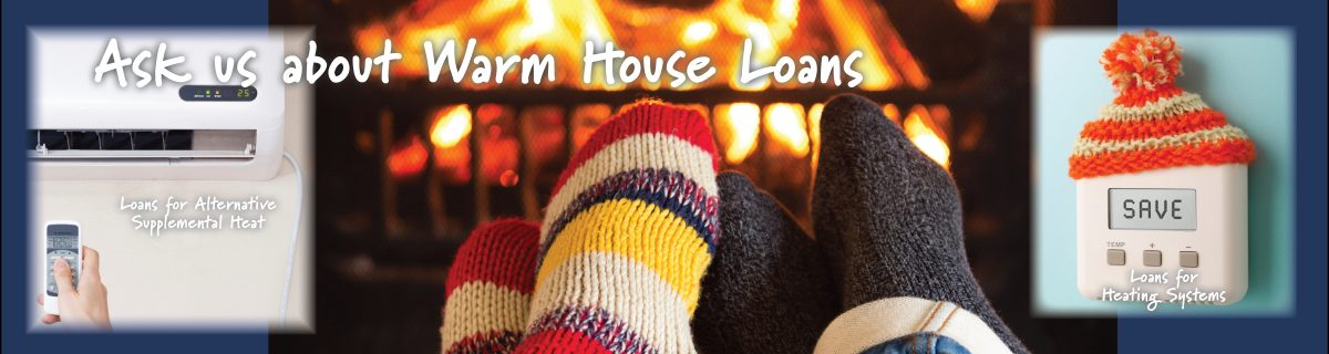 Image of feet with warm socks promoting our Warm House Loans- click for more information