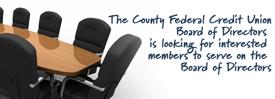 We're looking for members for the Board of Directors.