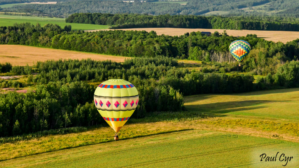 Hot air Balloon and landscape
