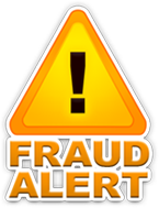 Symbol for Fraud Alert with Exclamation
