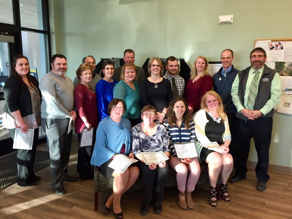 Group photo of all of The County Federal Credit Union Opportunity Guide Volunteers for the Aroostook CASH Coalition