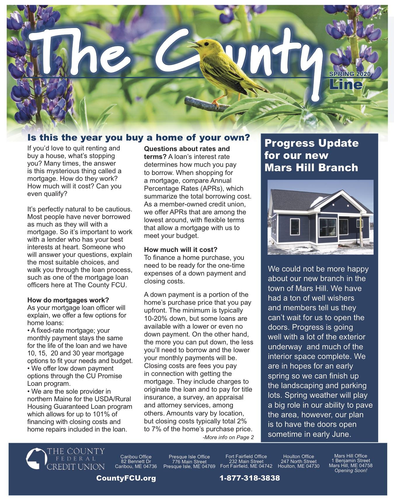 Spring Newsletter 2020 Cover